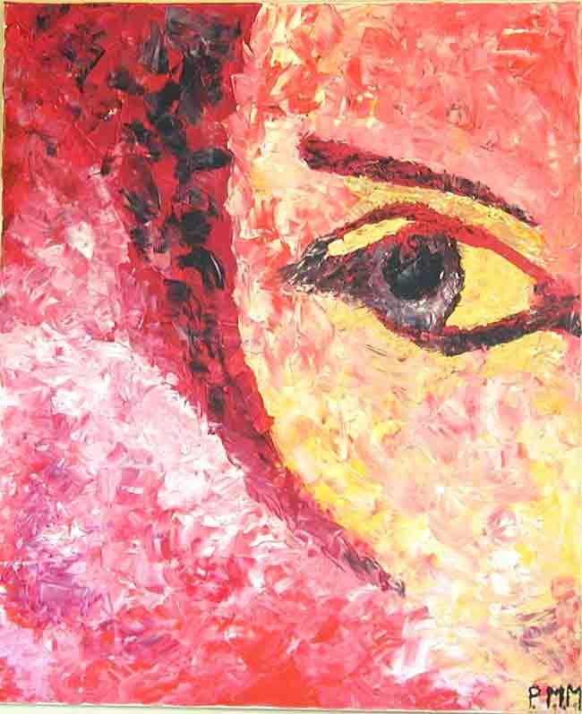 Lo Sguardo Acrylmalerei von Paola Massei