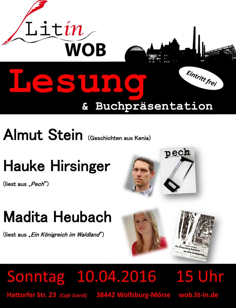 Litin WOB am 10. April 2016 im Café Schrill
