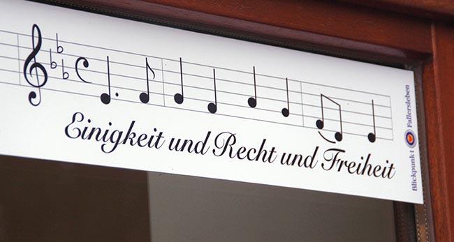 Das Deutschlandlied von Hoffmann von Fallersleben