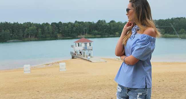 Reise- und Lifestyle Bloggerin Christine Evers am Bernsteinsee Stüde