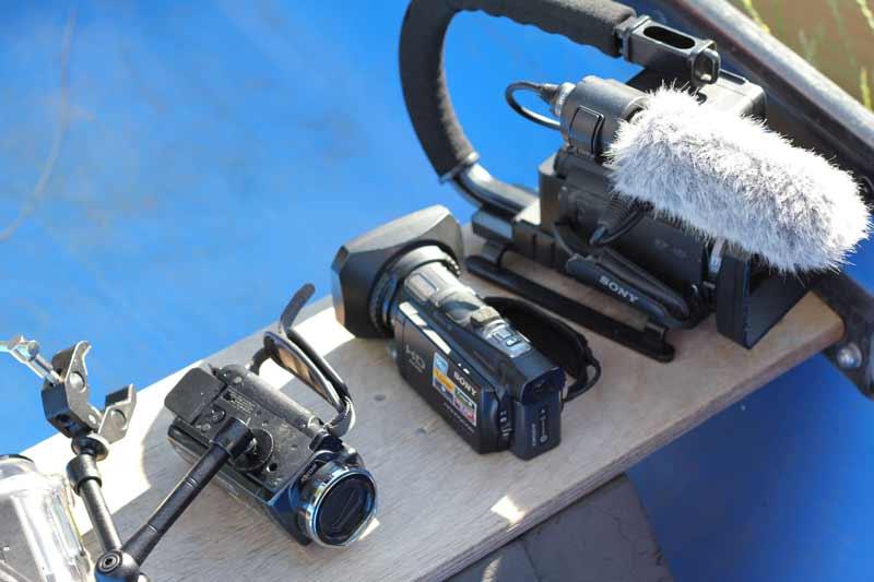 Equipment von Marcus Wendt für einen Außendreh