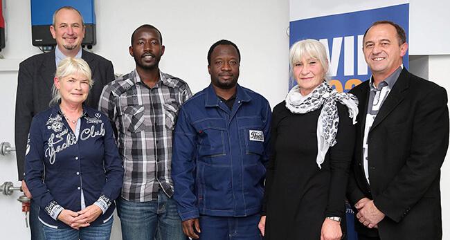Die Firma Thieme und Willkommen in Lehre e.V., integrieren Flüchtlinge