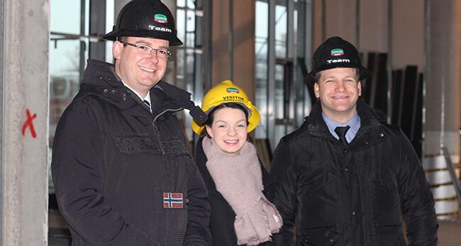 Besuch auf der Baustelle vom Allerparkhotel Wolfsburg