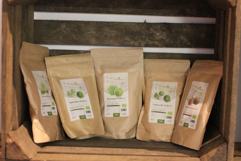 Neben Protein Produkten, gesunden Chips und Kokosblütenzucker wird auch eine Ernährungsberatung angeboten