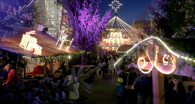 Der Wolfsburger Weihnachtsmarkt legt auch auf das Thema Nachhaltigkeit Wert