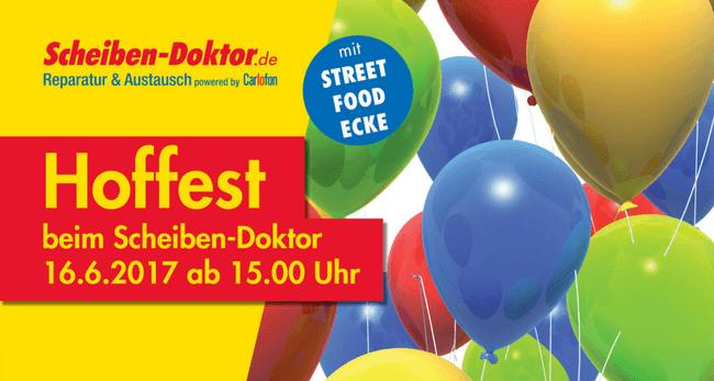 Scheiben-Doktor-Hoffest mit Streetfood und Live-Musik