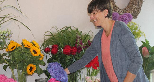 Blumenliebe Inhaberin Melanie Schumacher