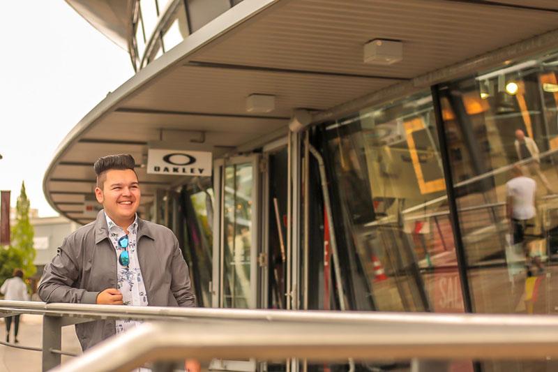 Nach dem Shopping-Marathon stand noch ein Fotoshooting auf dem Plan / Foto: Andreas Bräunlich