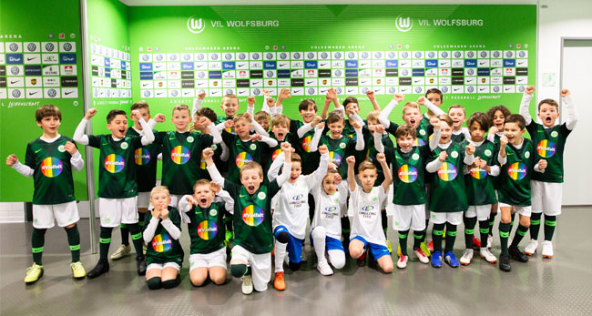 Einlaufkinder VfL Wolfsburg / Foto: VfL Wolfsburg-Fußball GmbH