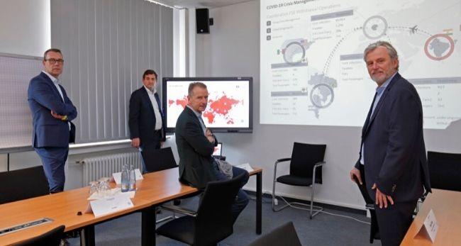 Volkswagen Vorstände beraten sich zur Corona-Krise